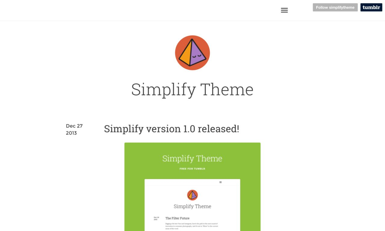 simplify tumblr theme