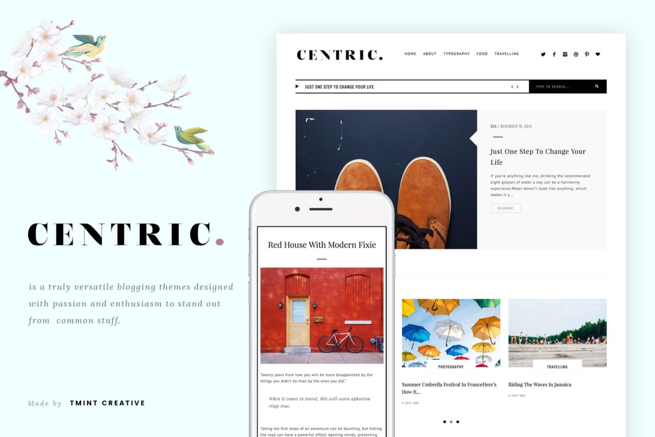 centric tumblr theme