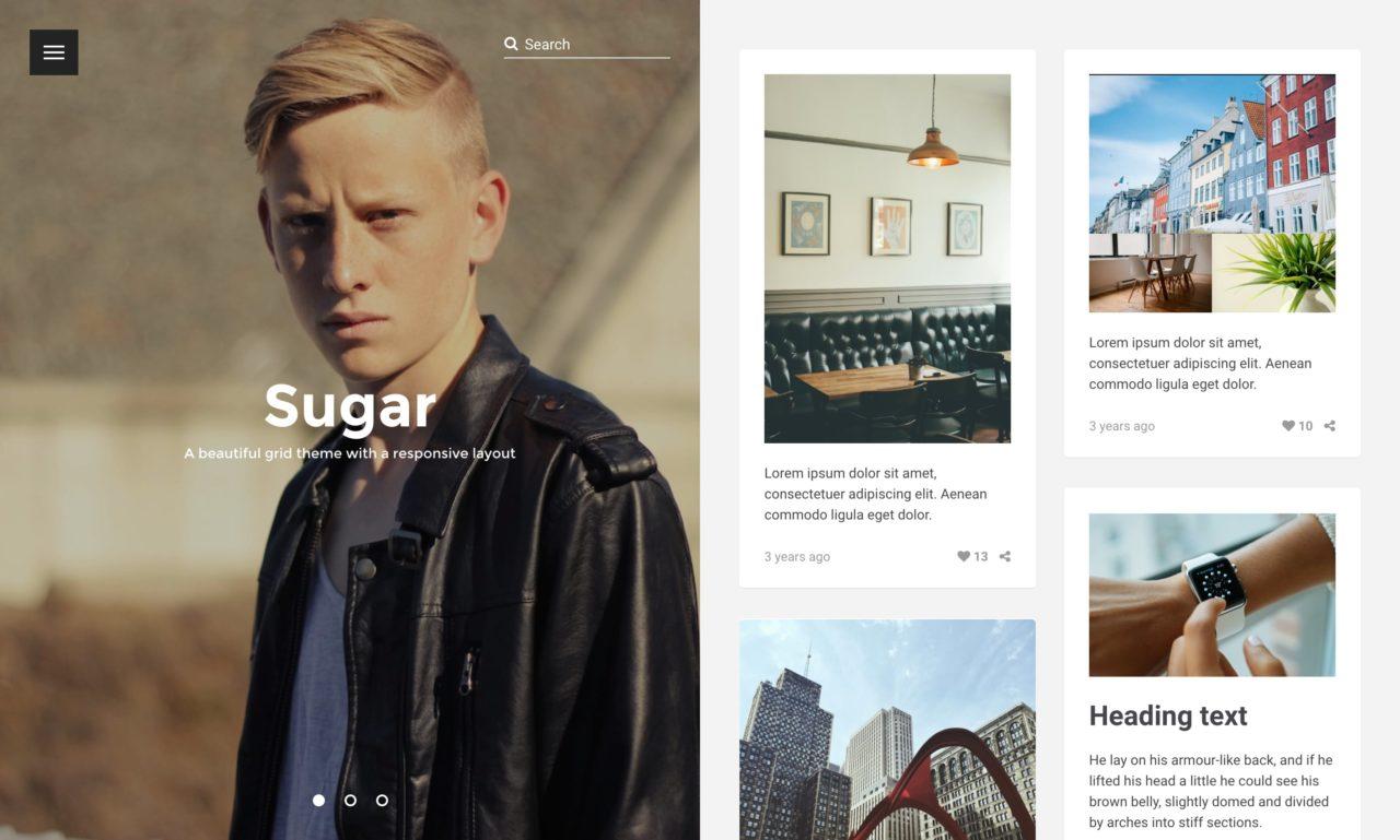 sugar tumblr theme