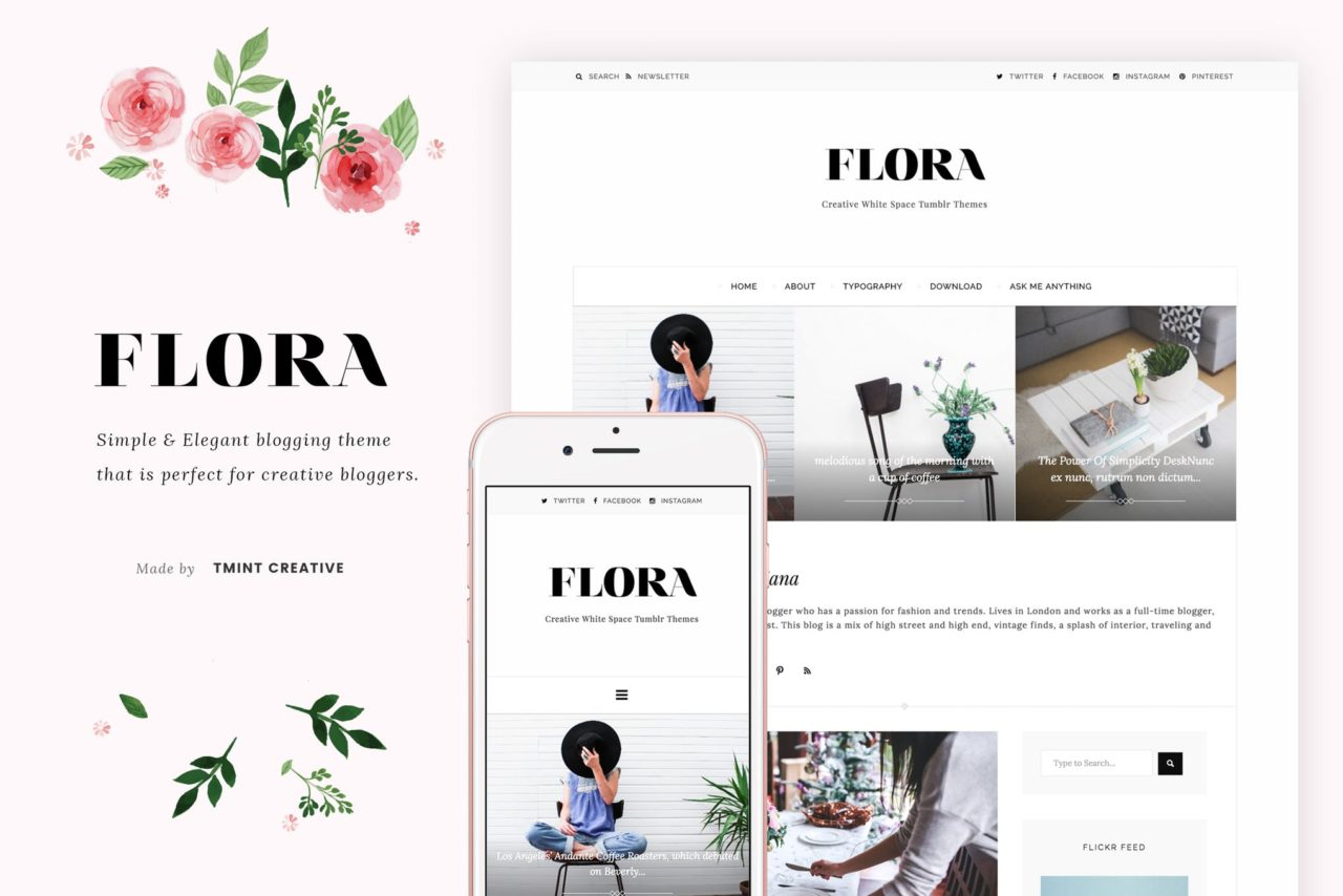flore tumblr theme