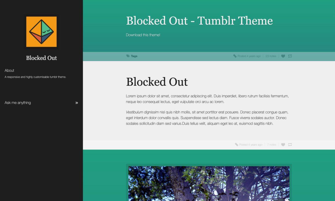 blocked out tumblr theme