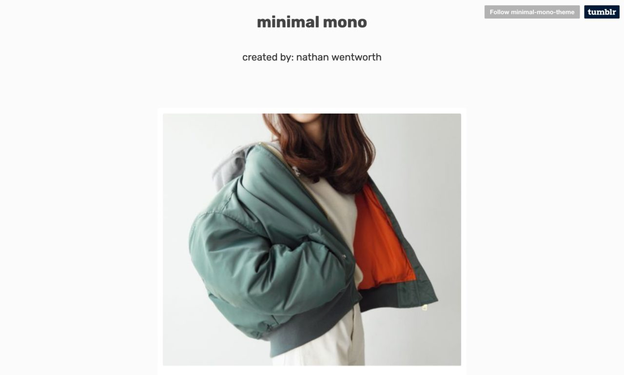 minimalmono tumblr theme
