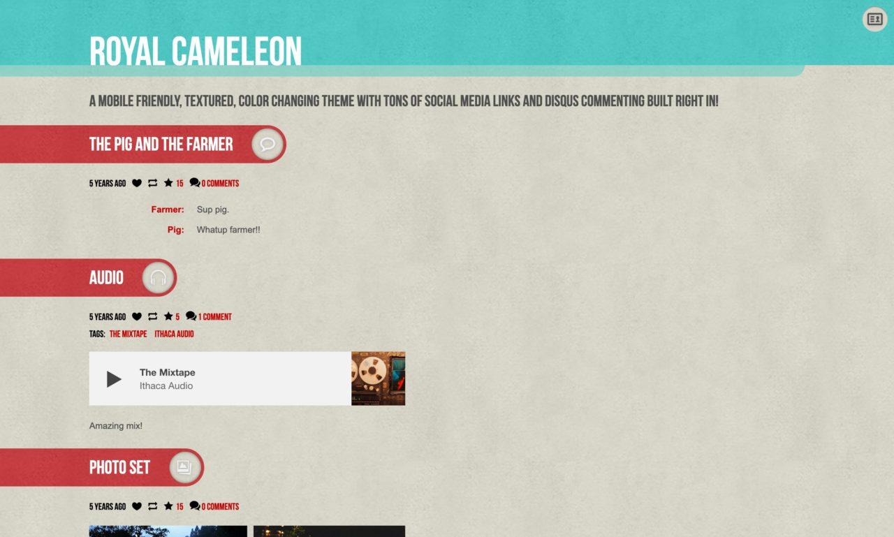 royal cameleon tumblr theme