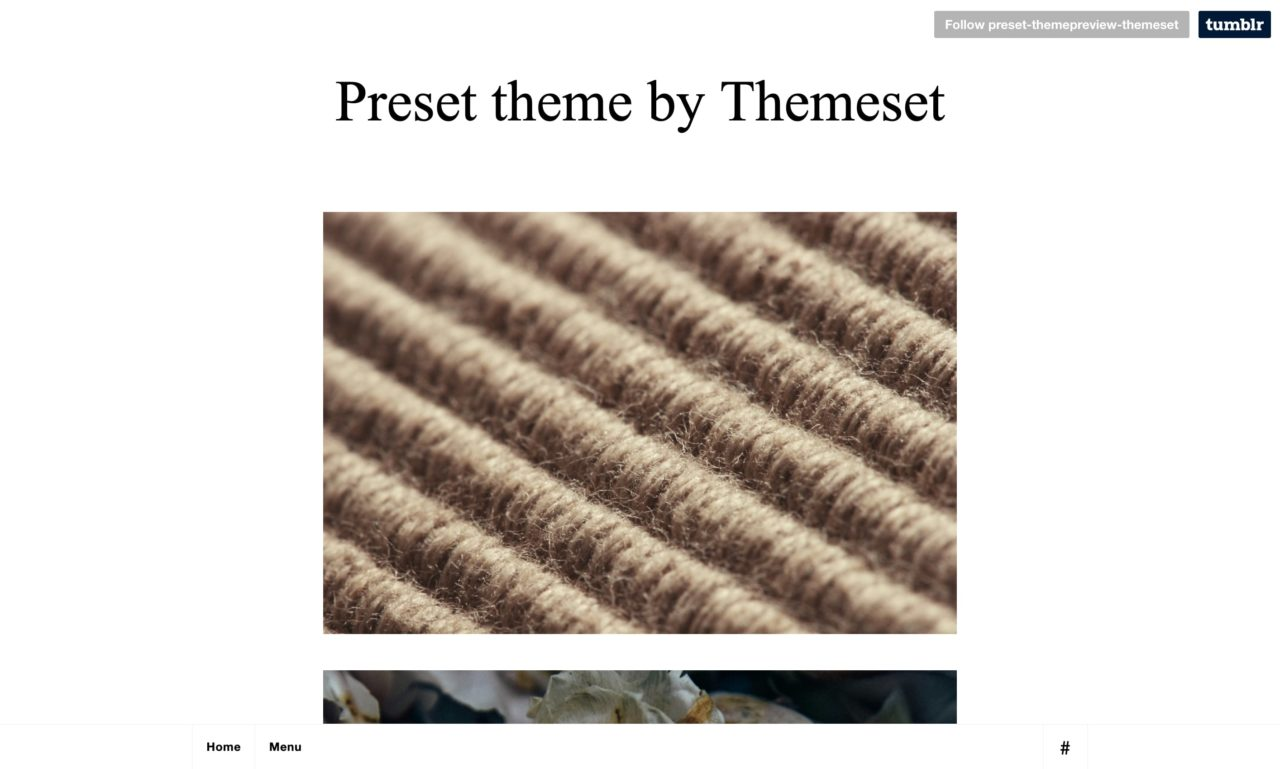 preset tumblr theme