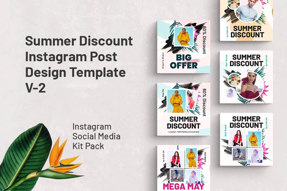 summer discount template