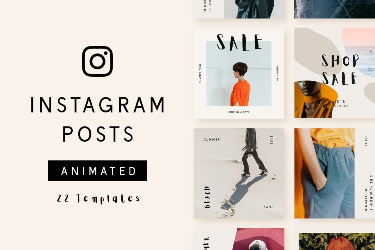 insta animated posts template