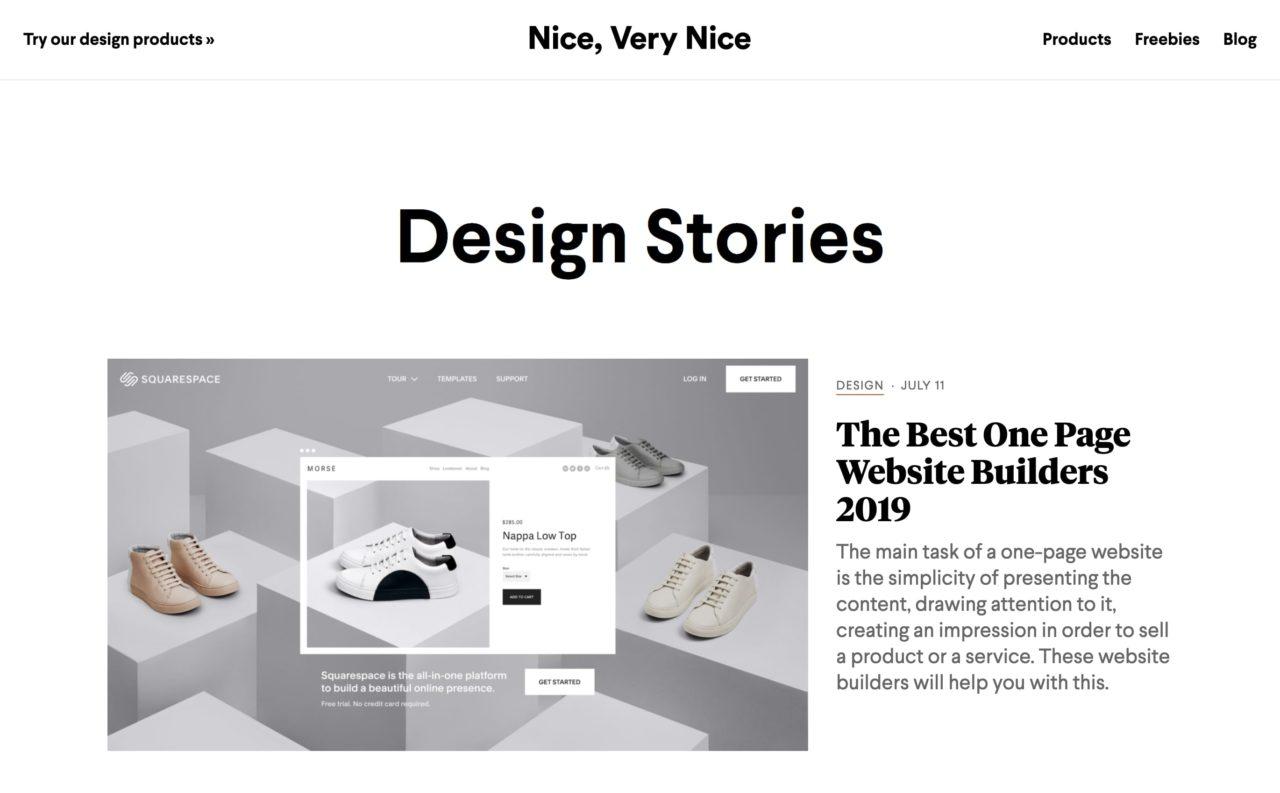 niceverynice blog design
