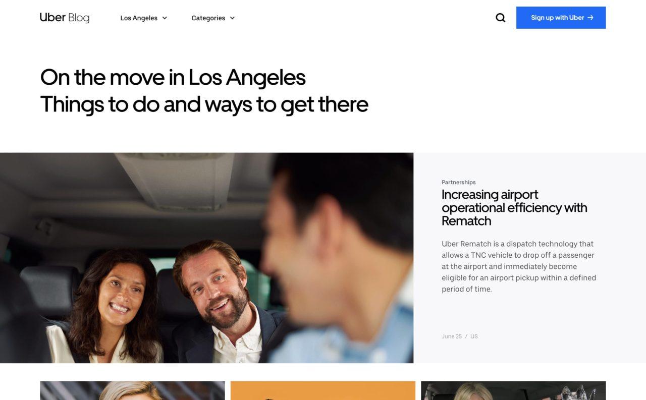 uber blog design