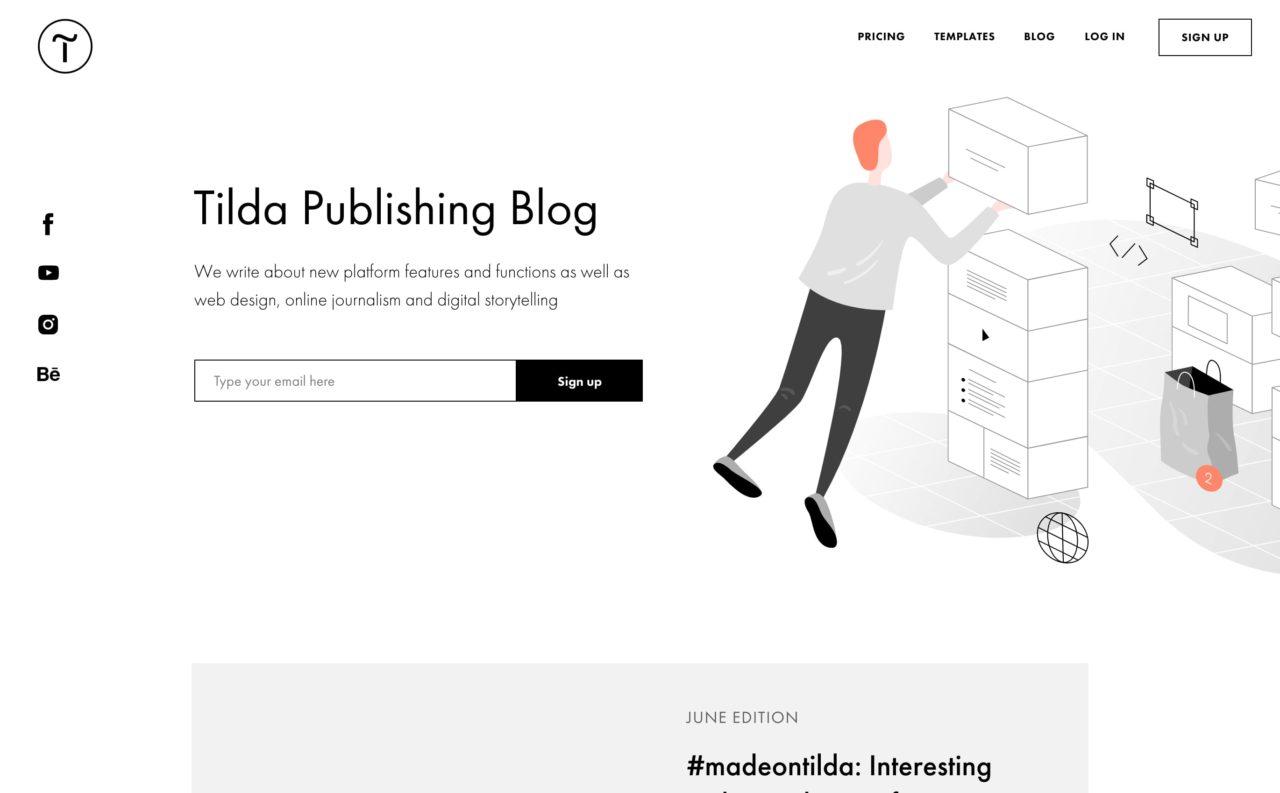 tilda blog design