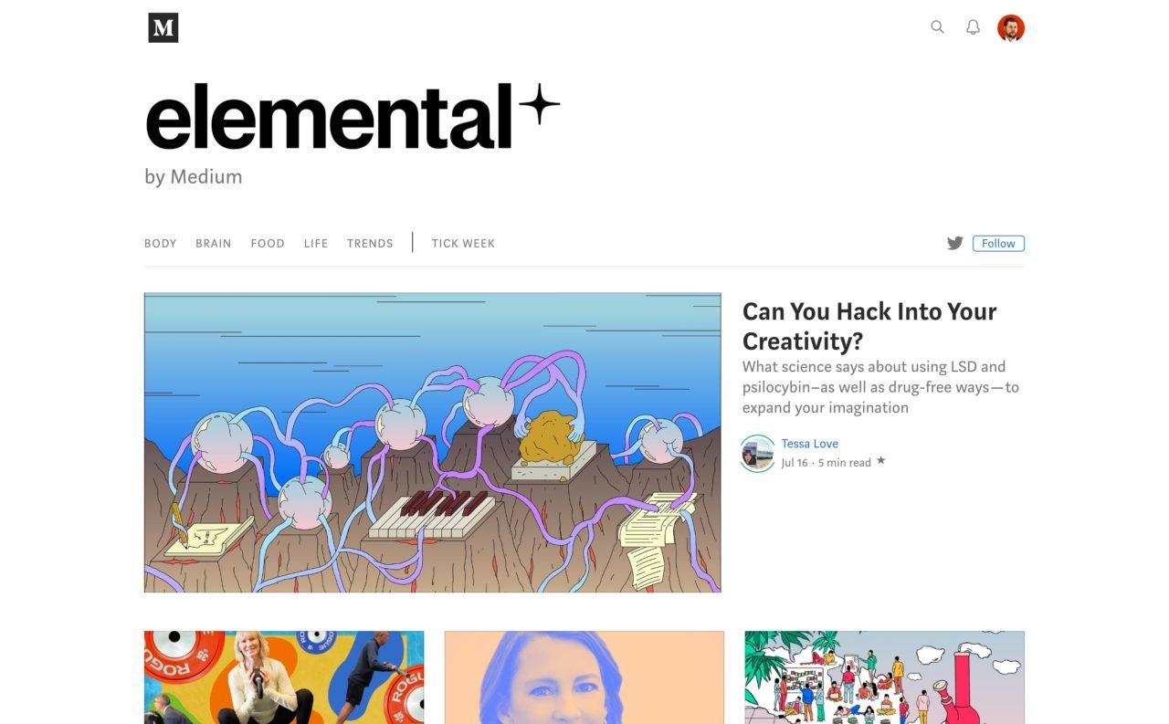 elemental blog design