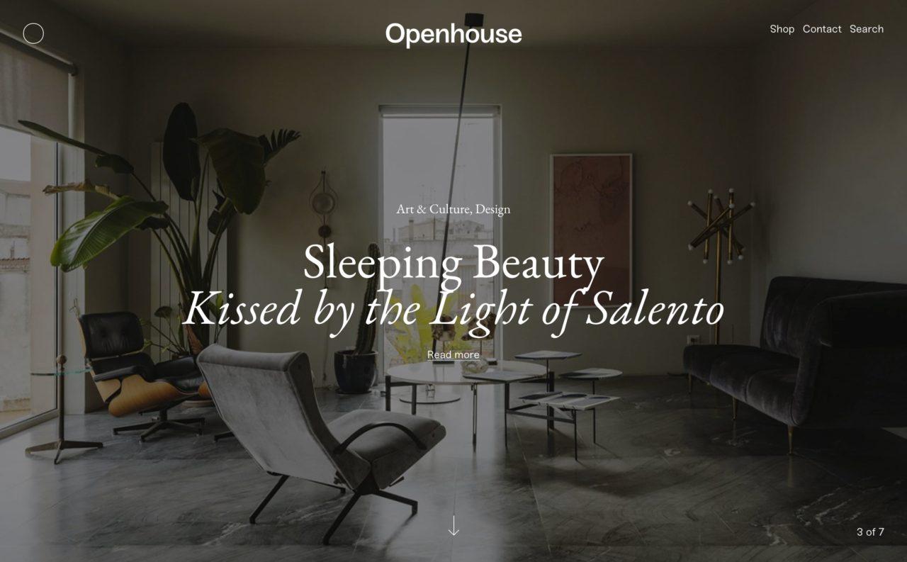 openhouse blog design