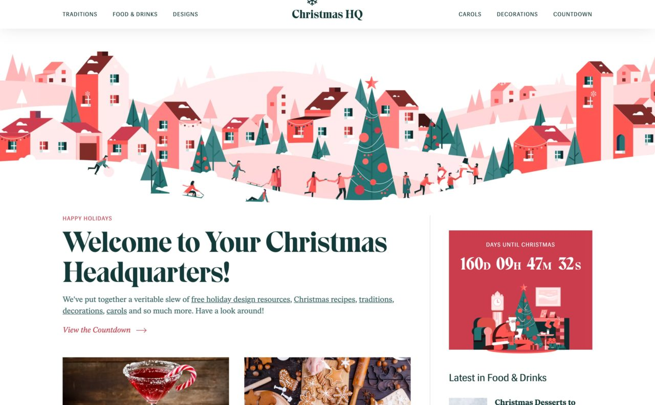 christmas hq blog design