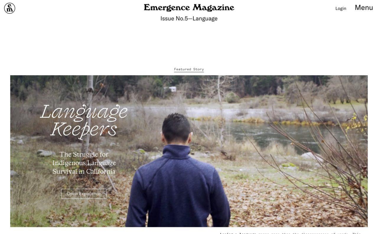 emergence blog design