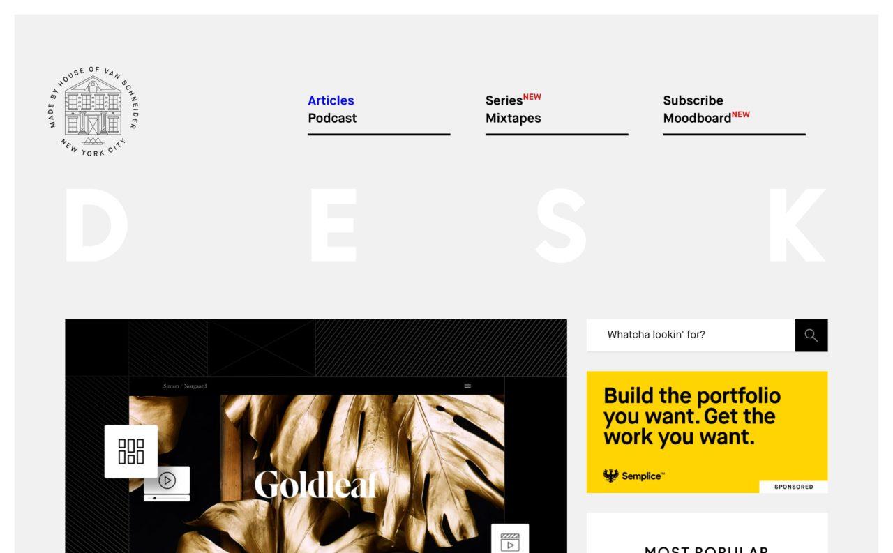 vanschneider blog design