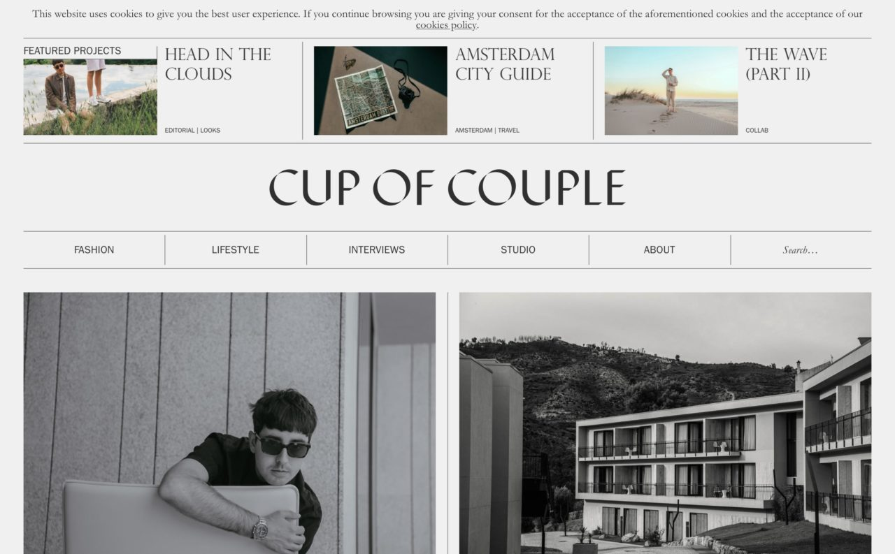 cup of couple blog design