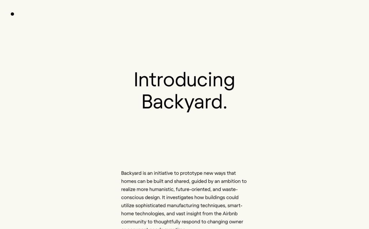 backyard blog design