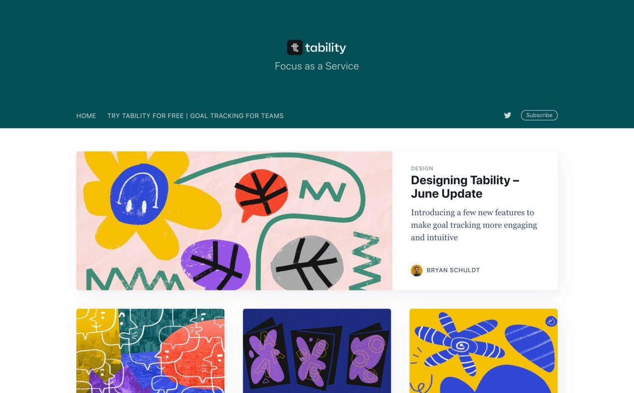tability blog design