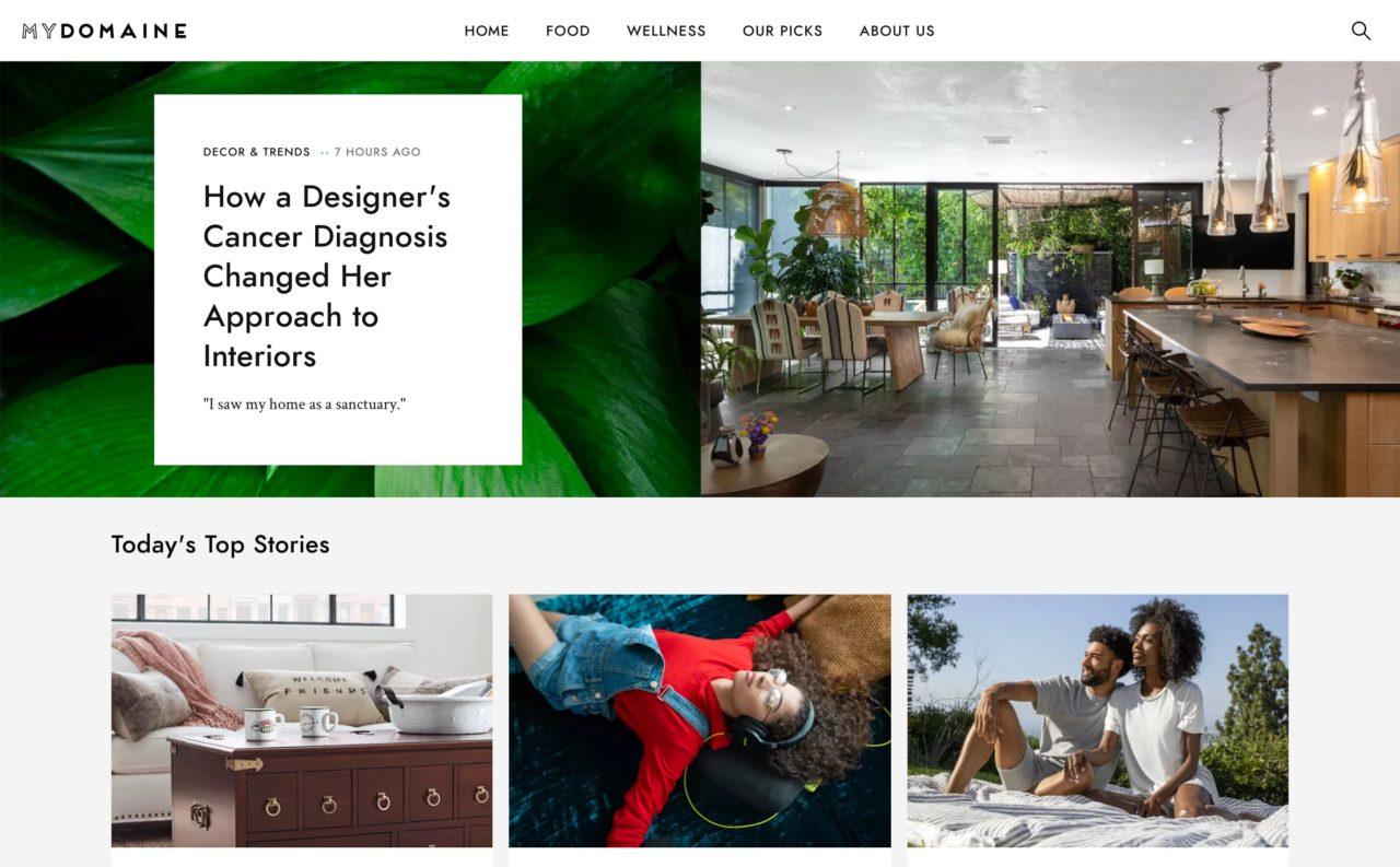 my domaine blog design