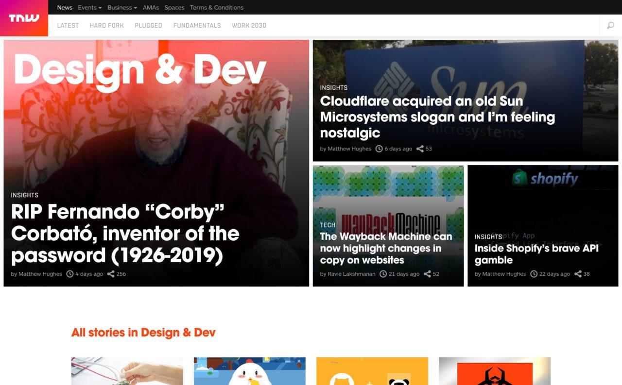 thenextweb blog design