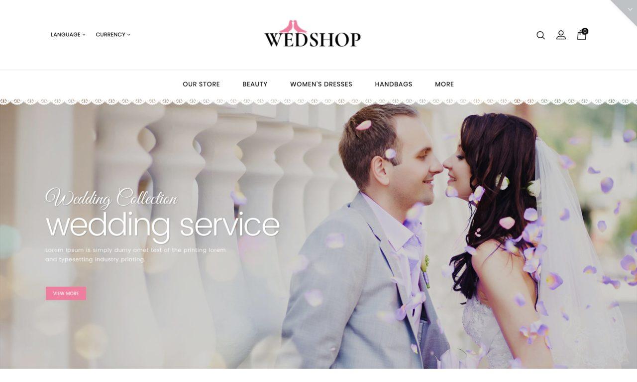 wedshop mockup template