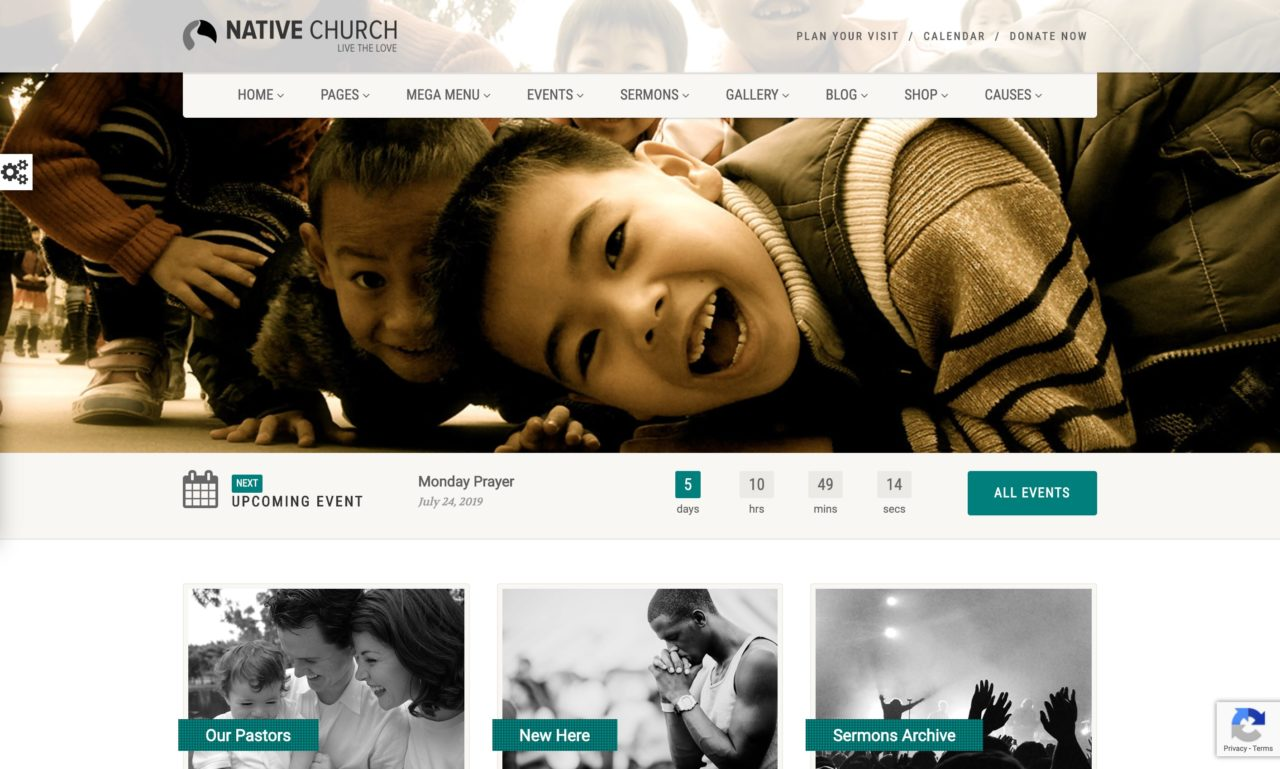 native church mockup template