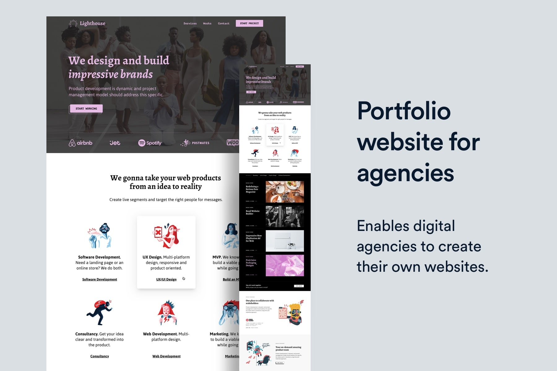 Portfolio Website Template for Agencies