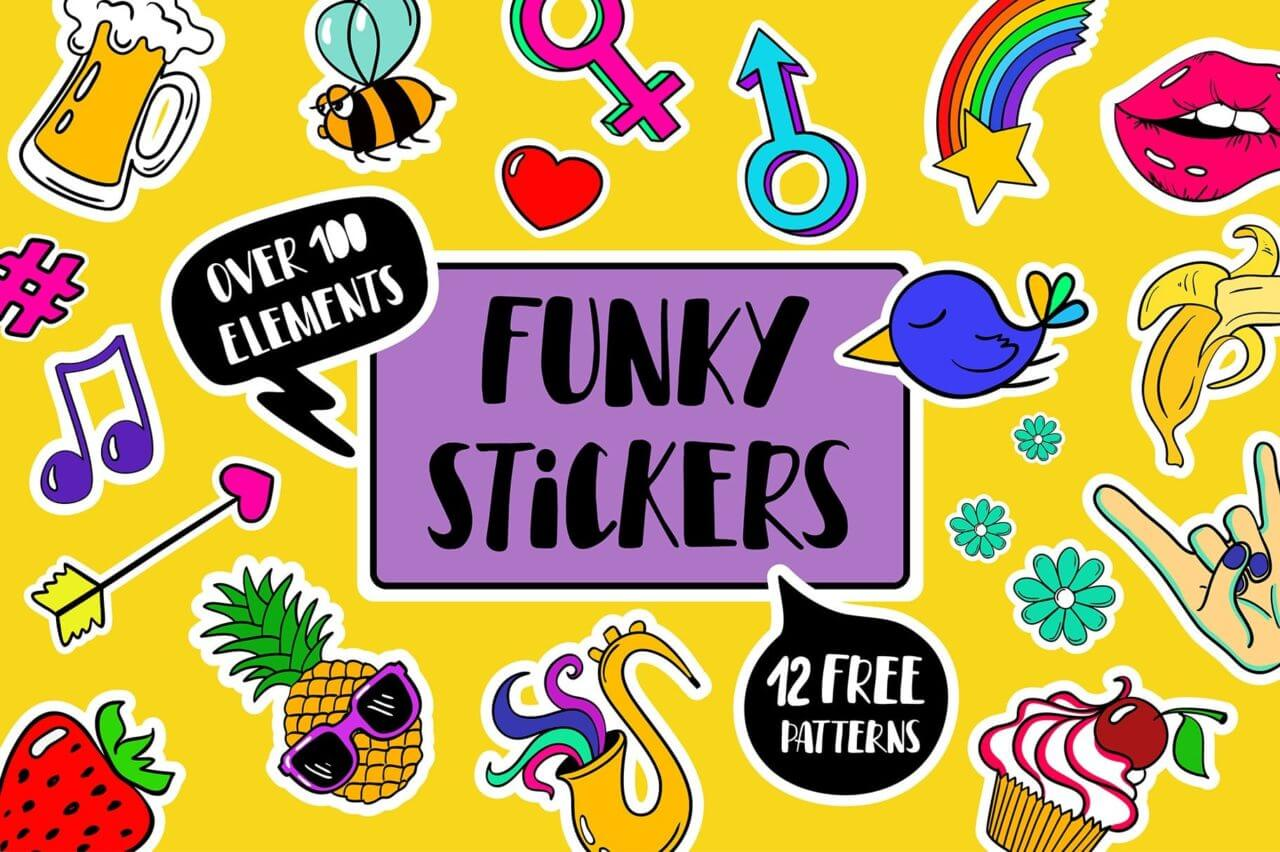 Funky stickers