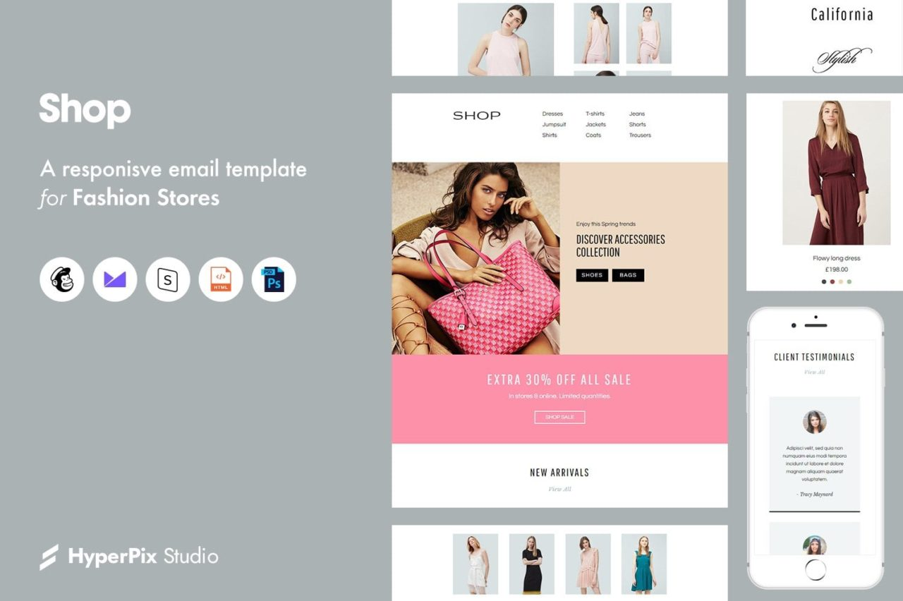 shop email template
