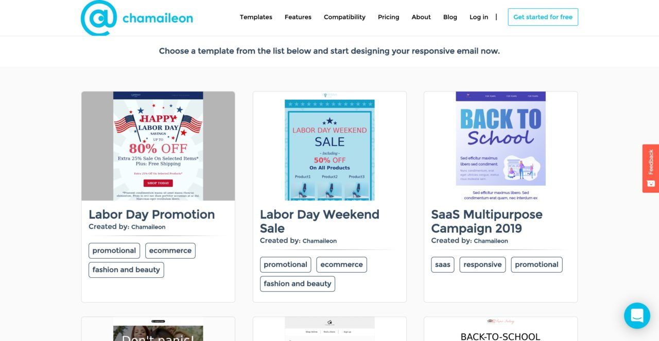 chamaileon email template