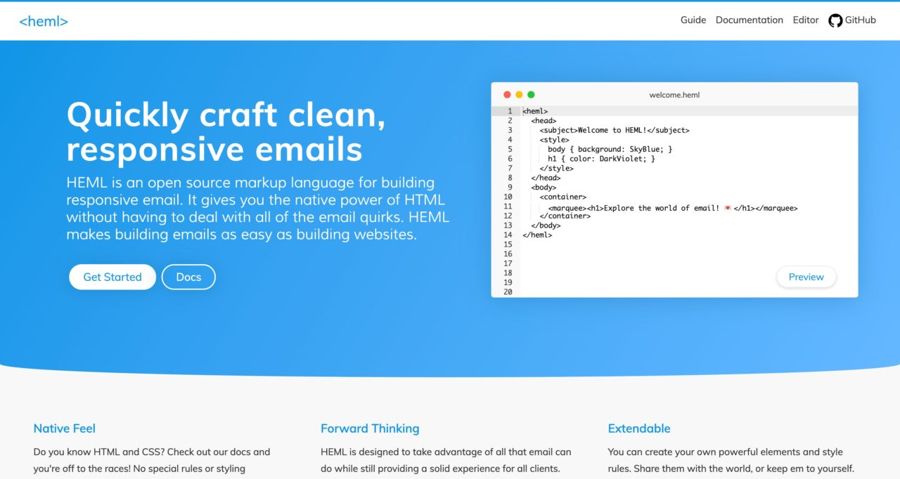 heml email template