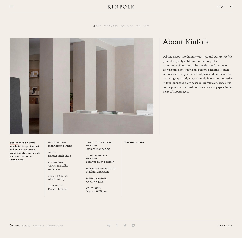 about kinfolk