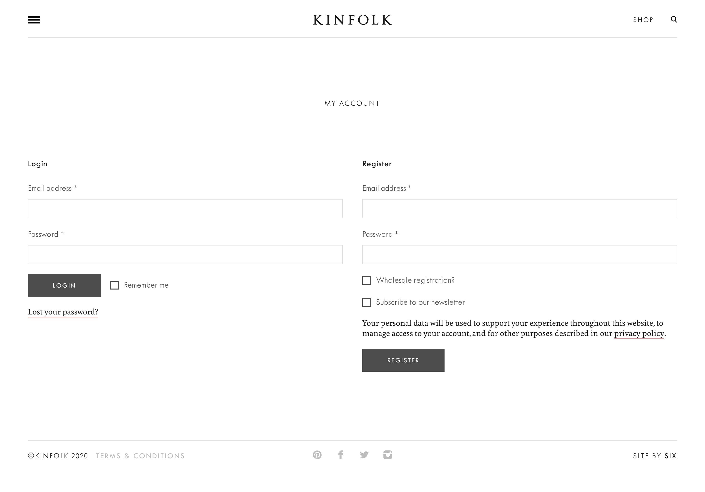 kinfolk register login page