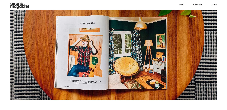 airbnb magazine design