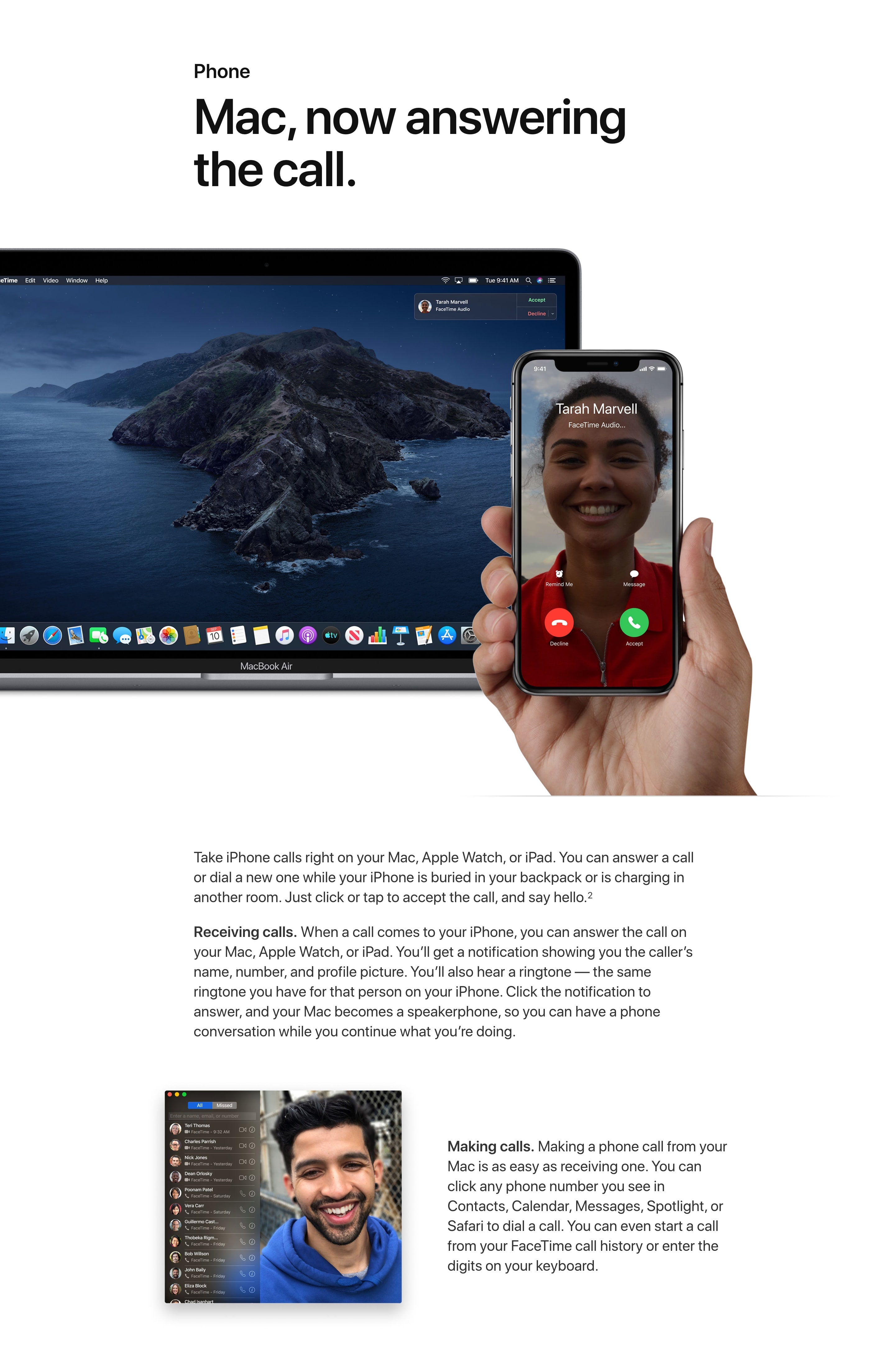 Page Section With Two Images & A Headline For Product Introduction