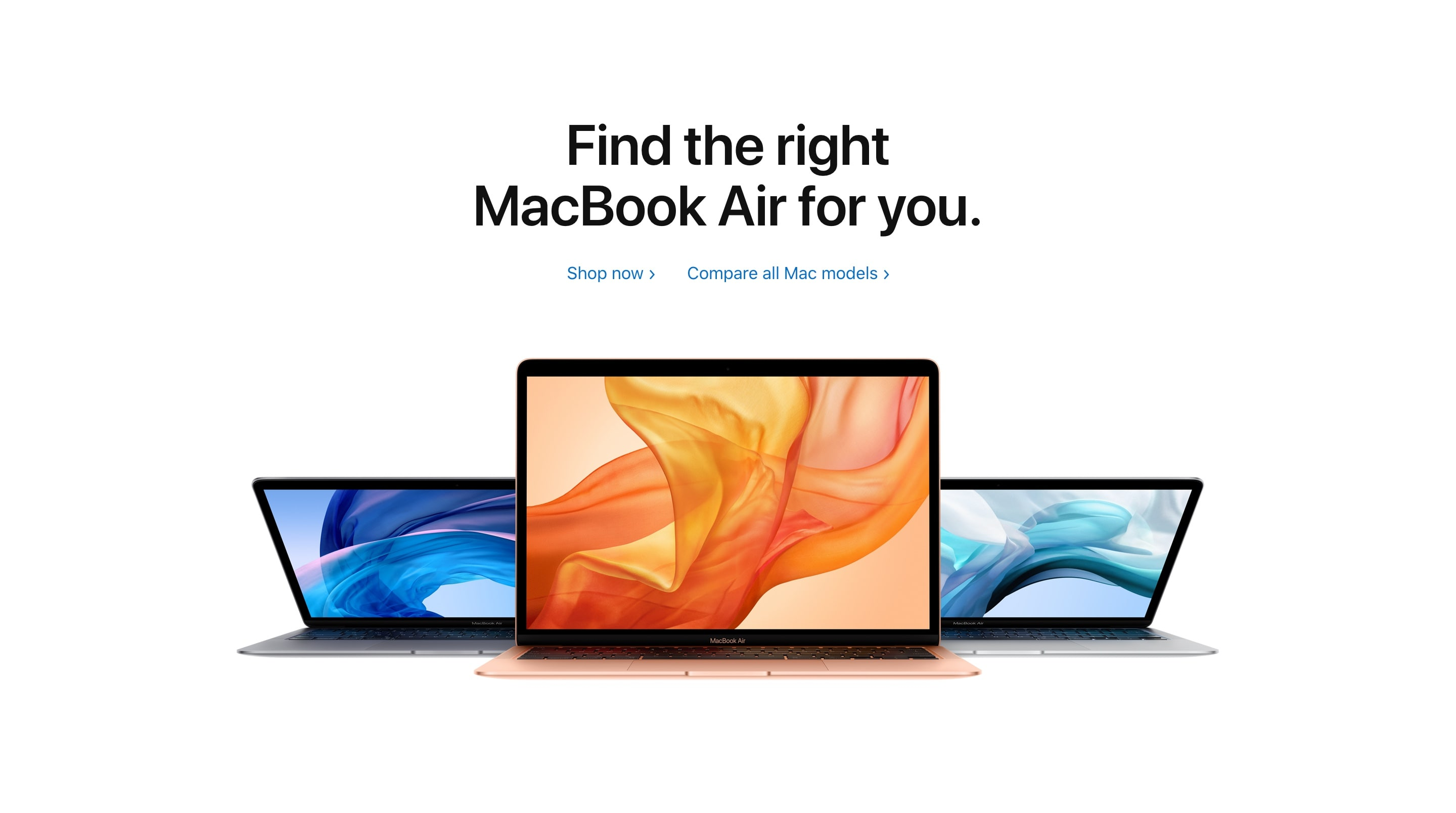 Shop Now Section with MacBook Mockup