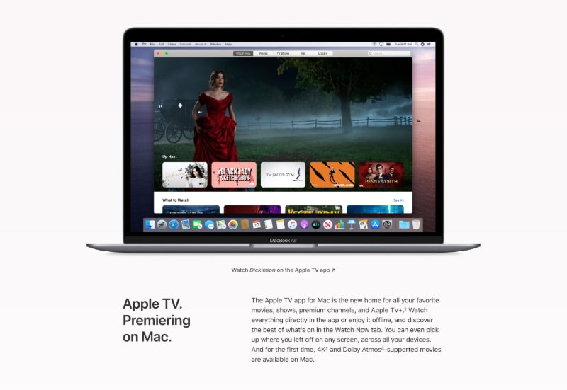 Feature Section with MacBook Mockup