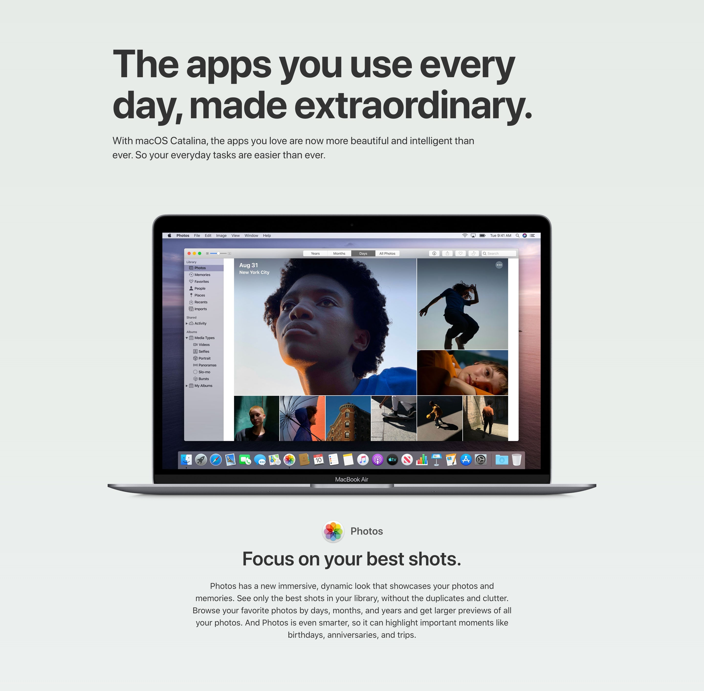 App Feature Block with MacBook Image