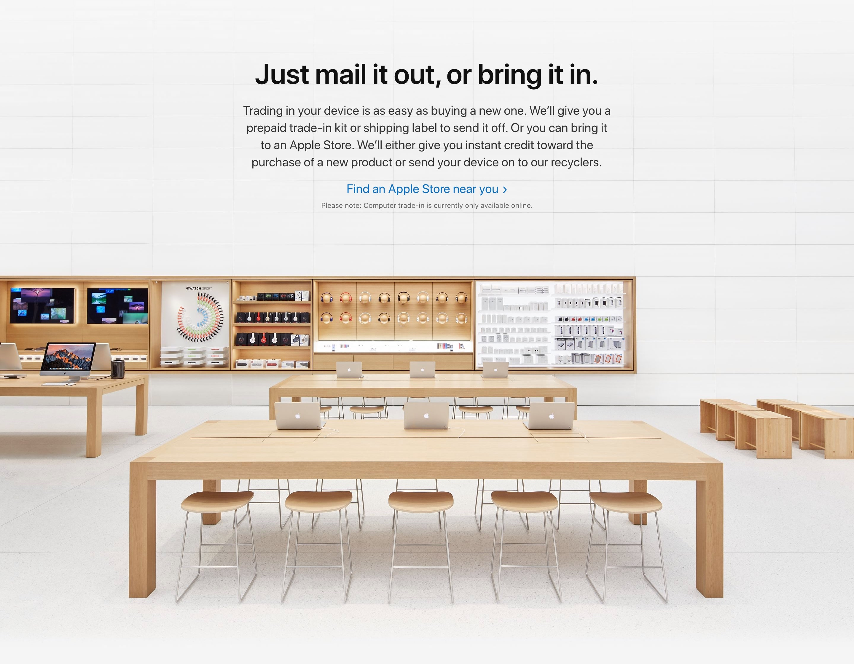 Near Retail Stores with Full-Width Image