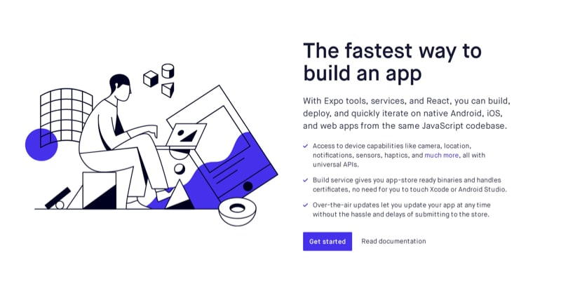 Get Started Block with Bulleted Features List