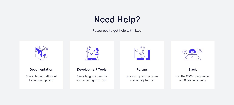 Help Resources Grid