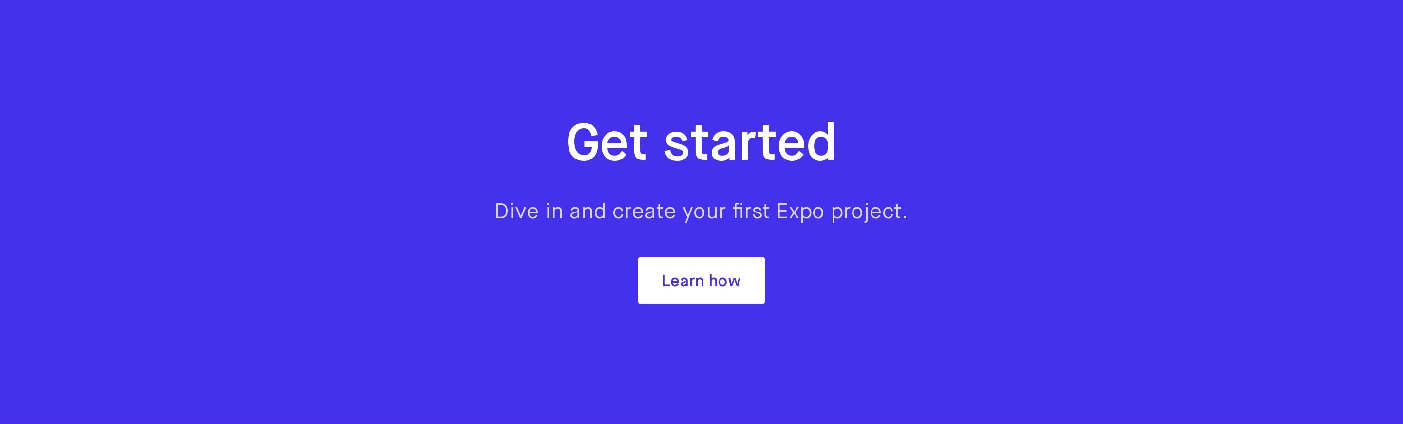 Get Started Section on Blue Background