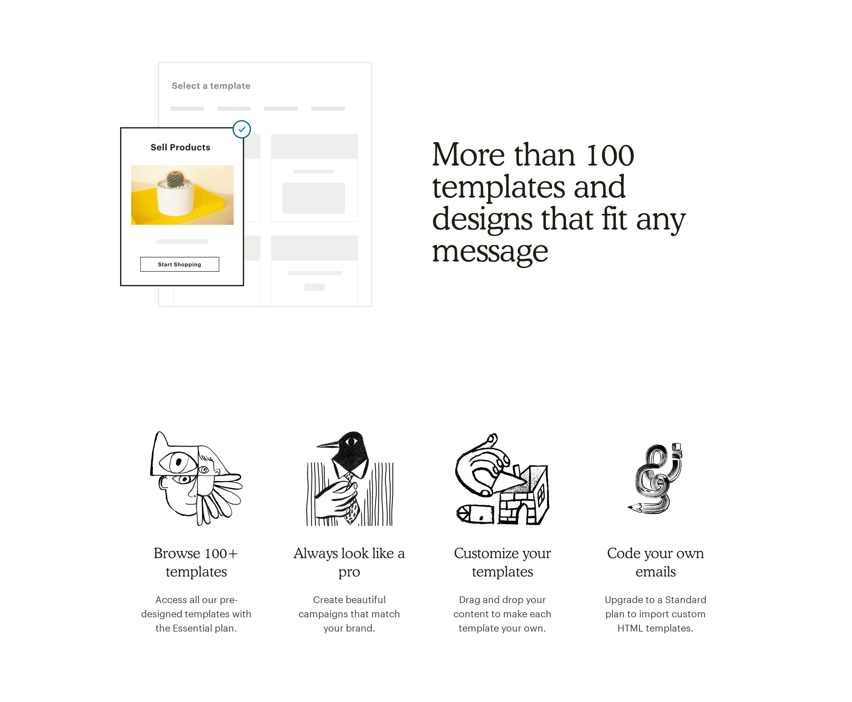 Product Templates Features Grid