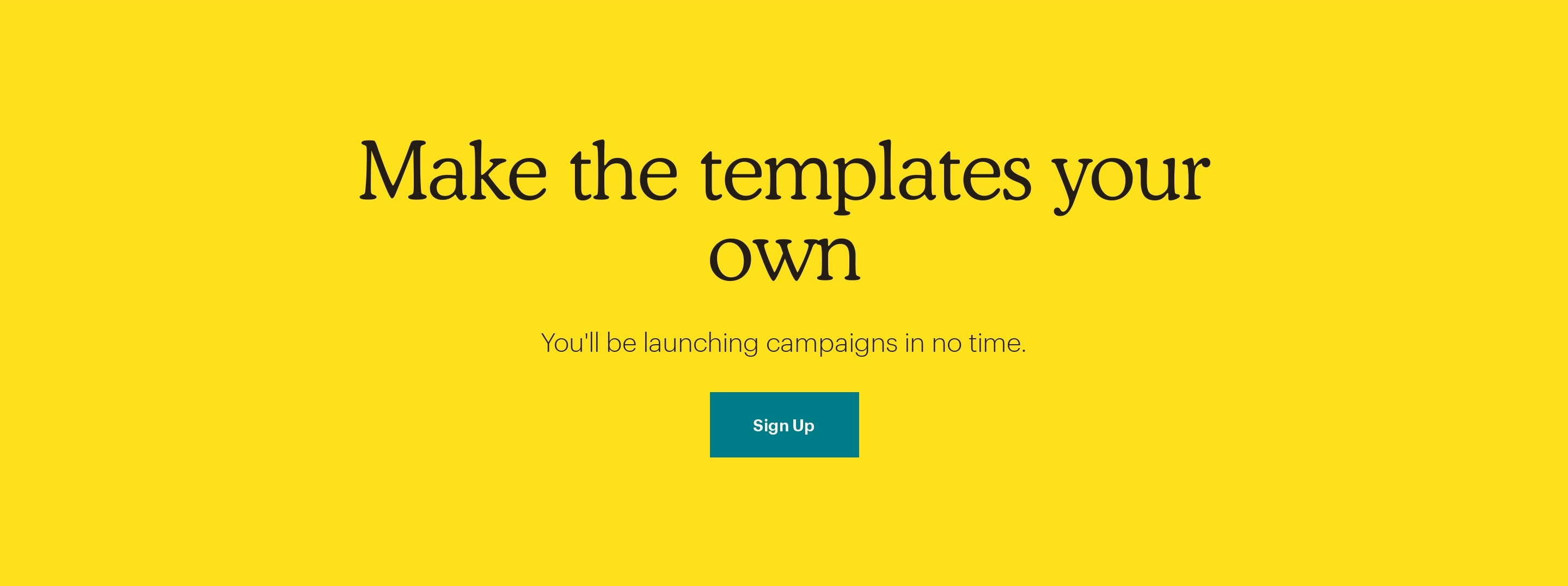 Sign Up CTA Block with Large Tagline
