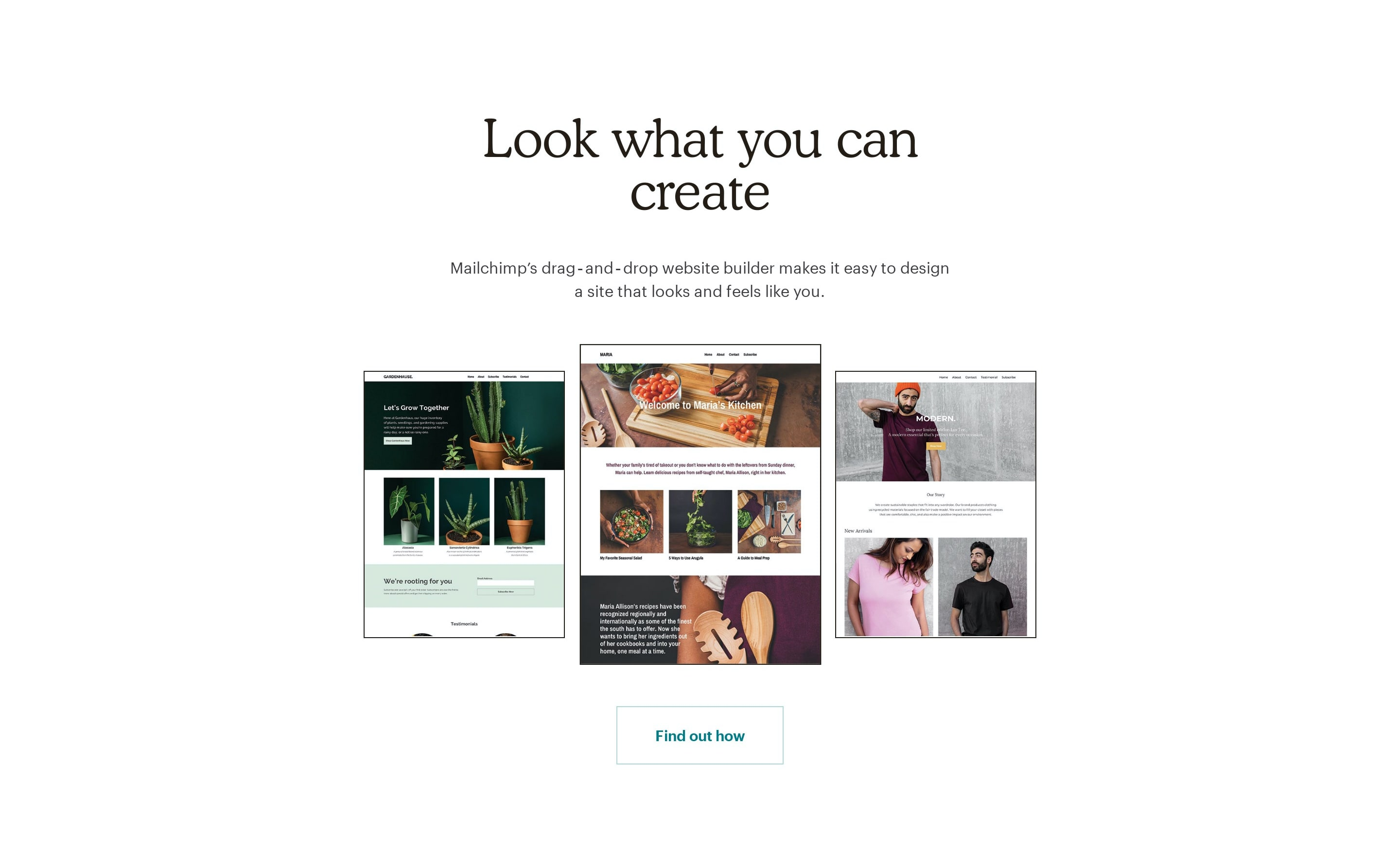 Feature with Website Screenshot Images