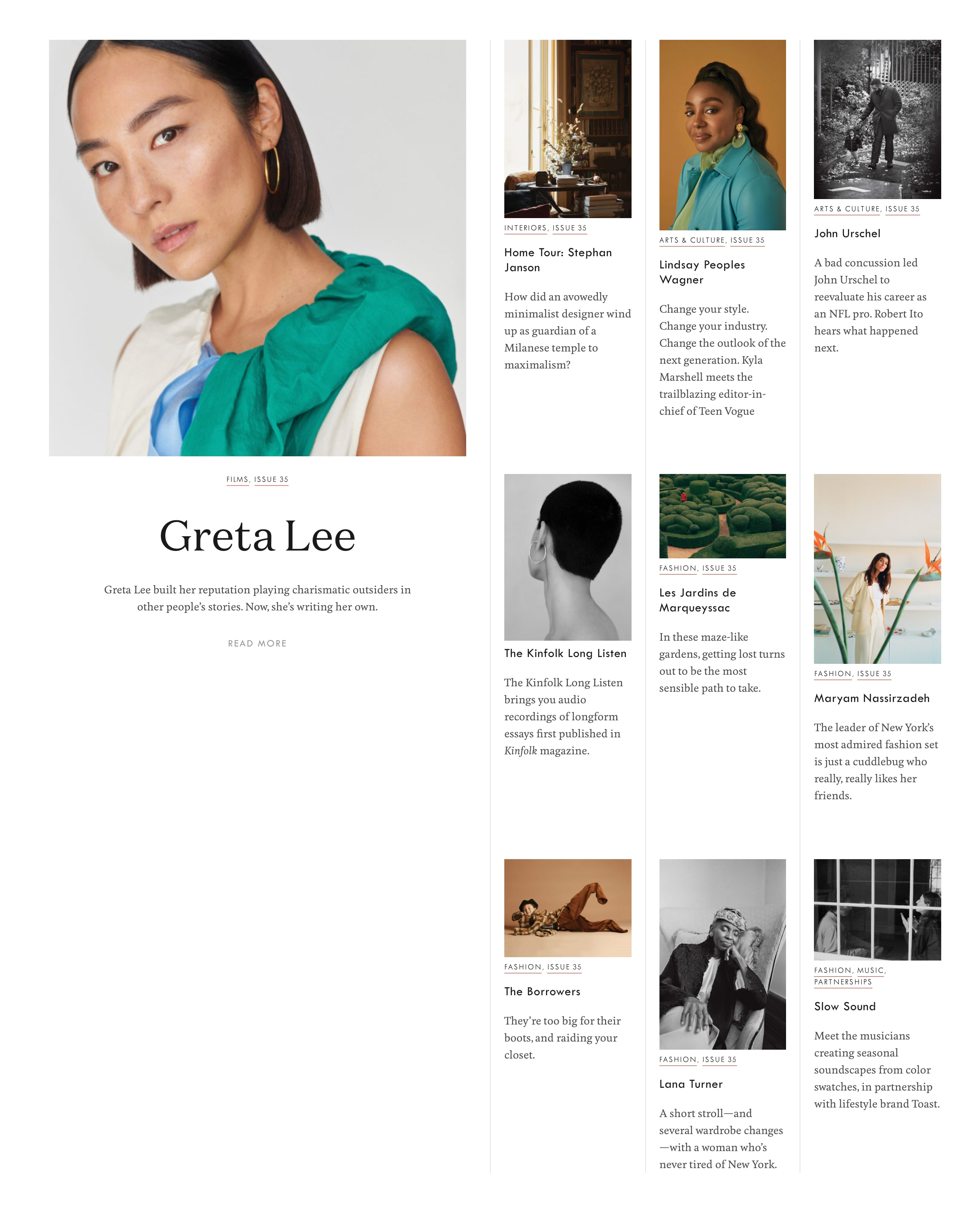 Blog Posts Grid with Featured Article