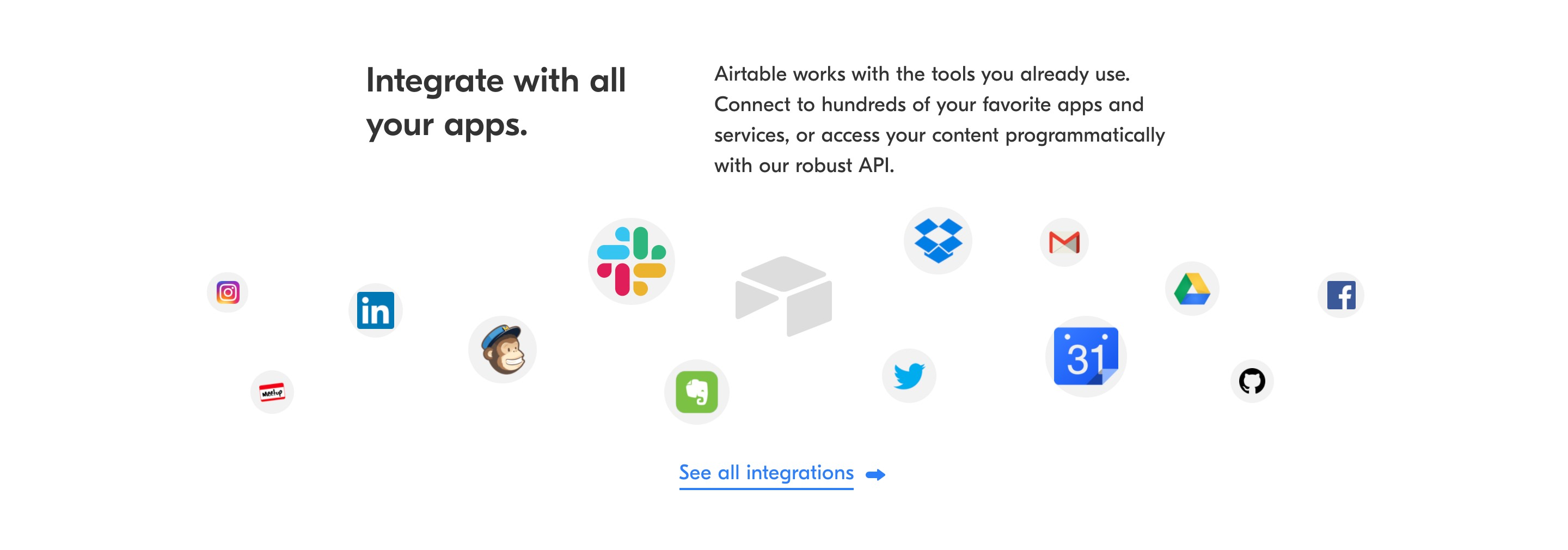 Apps Integrations Feature Section