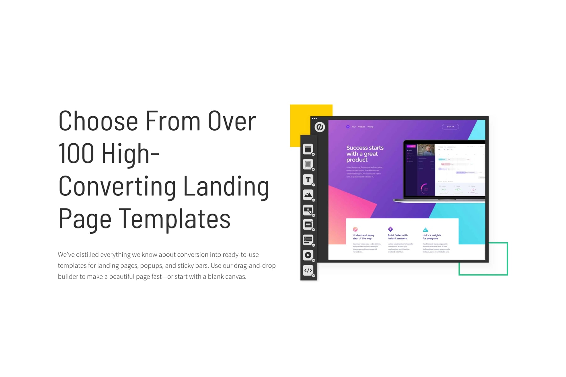 Create landing pages with no code