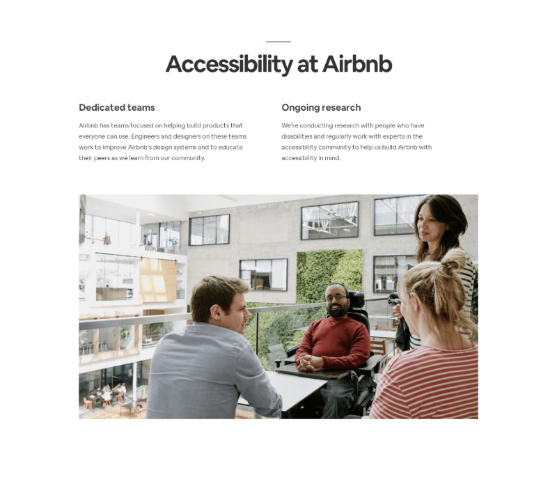 Accessibility Page Section