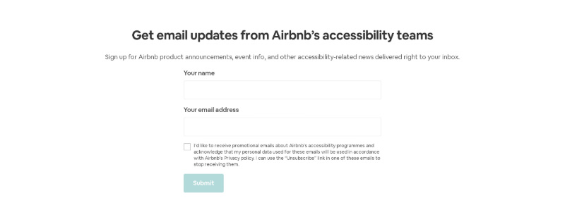 Get Email Updates Form