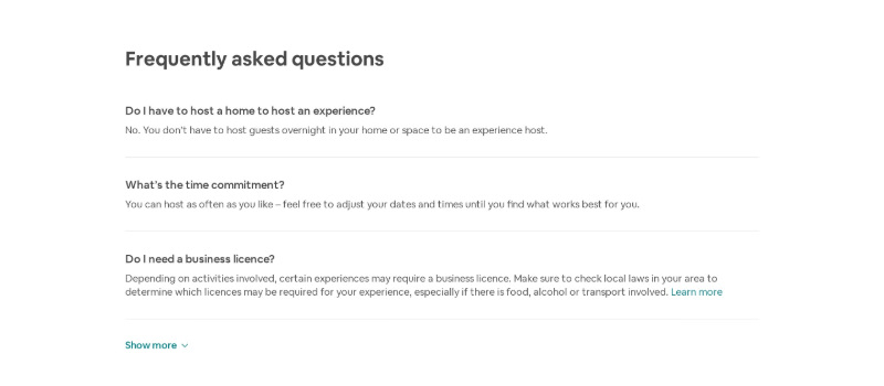 Expanded FAQ Questions with Show More Button